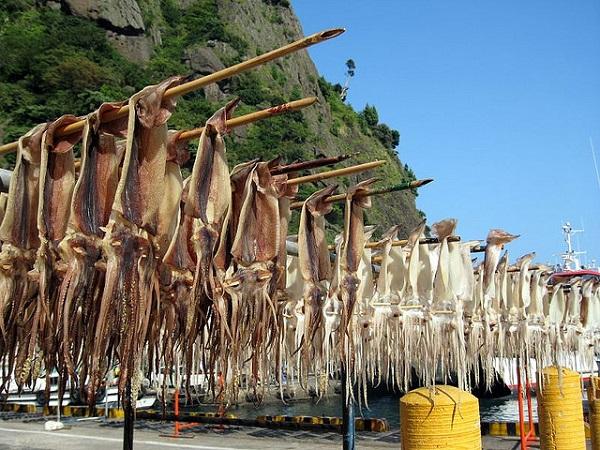 Đảo Ulleung-do nổi tiếng bởi hải sản phong phú