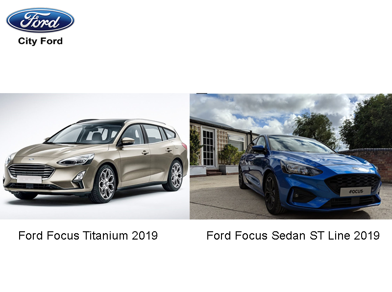 Thiết kế thanh lịch của dòng Focus Titanium 2019 và Sedan ST Line 2019